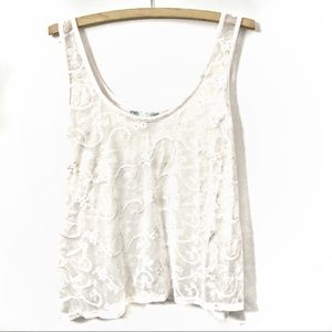 NWOT Maurices Mesh Lace Tank Top